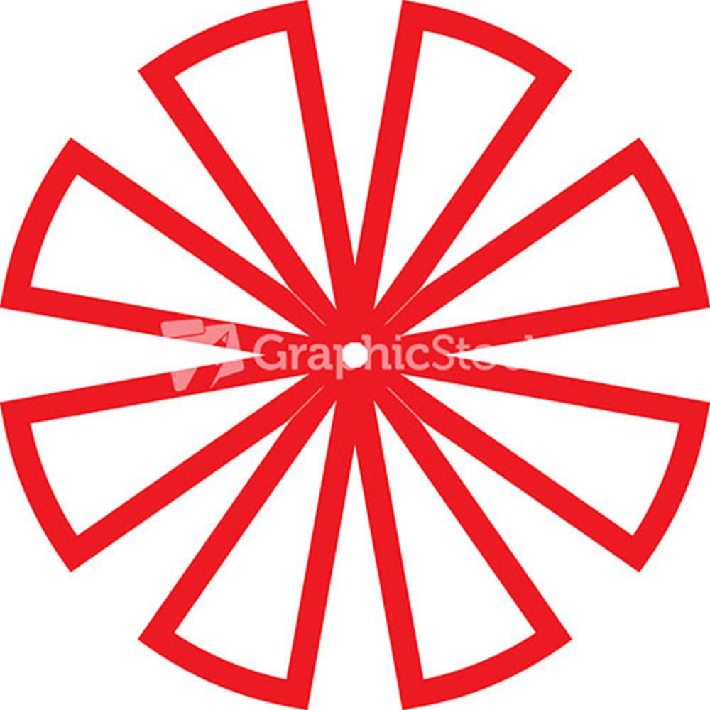 Sketch Of Flower Shaped Element Of Design.