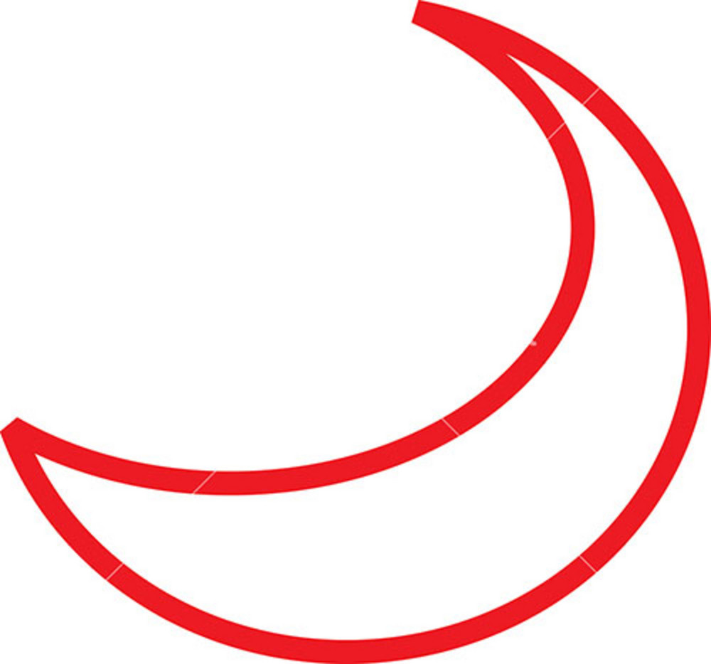 Design Element Of Crescent Moon's Sketch.