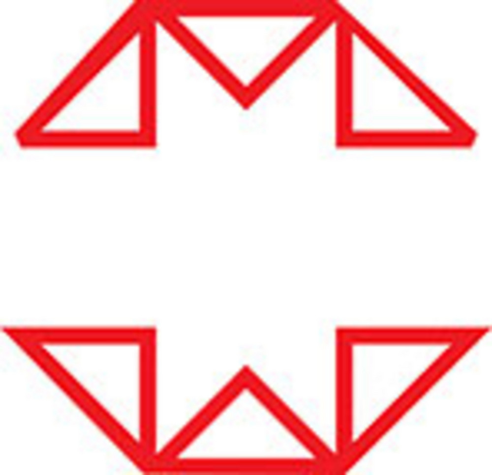 Design Element Of English Alphabet M.