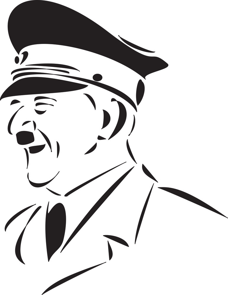 Portrait Of Adolf Hitler.