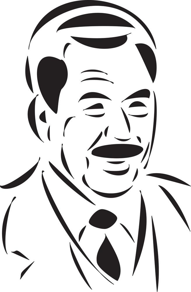 Portrait Of Saddam Hussain