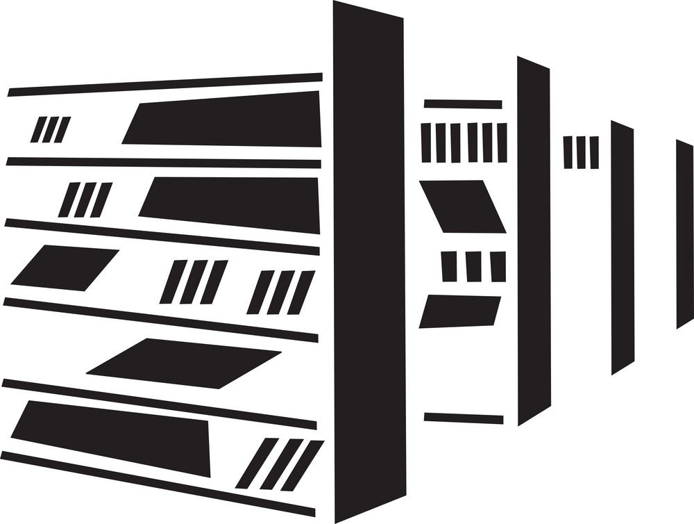Concept Of Library With Shelf Of Books.