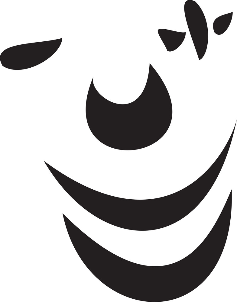 Illustration Of A Clown Face.