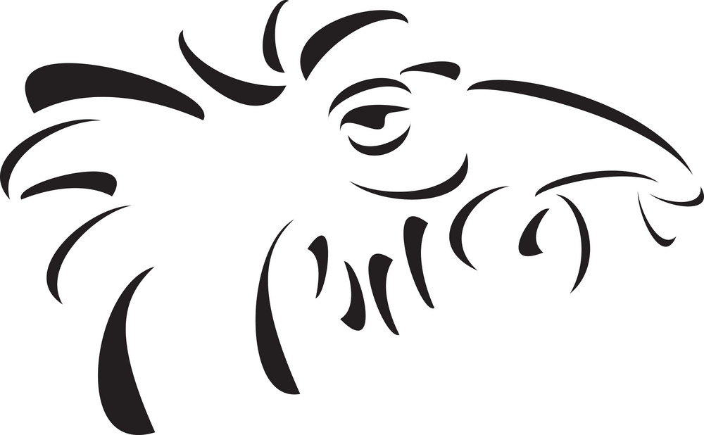 Illustration Of A Dragon Head.