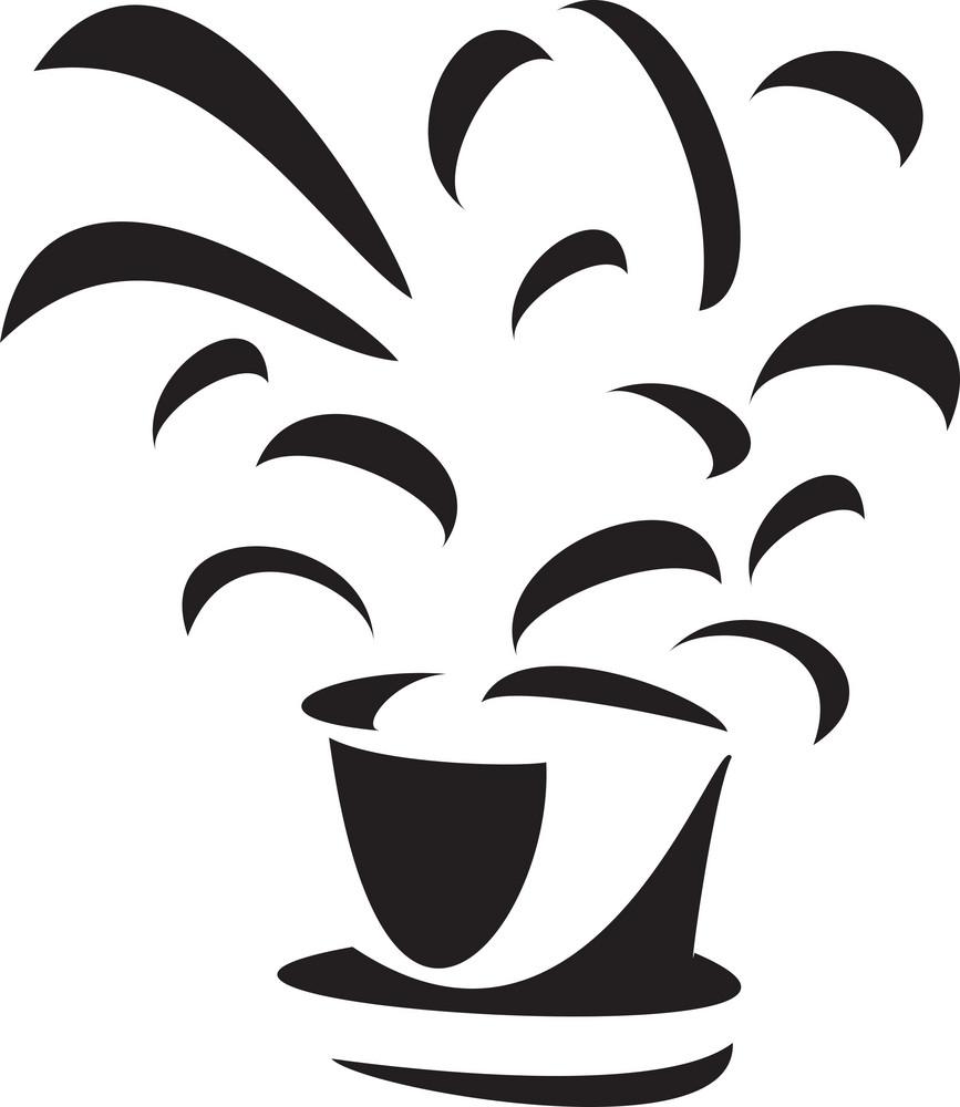 Illustration Of Flowerpot.