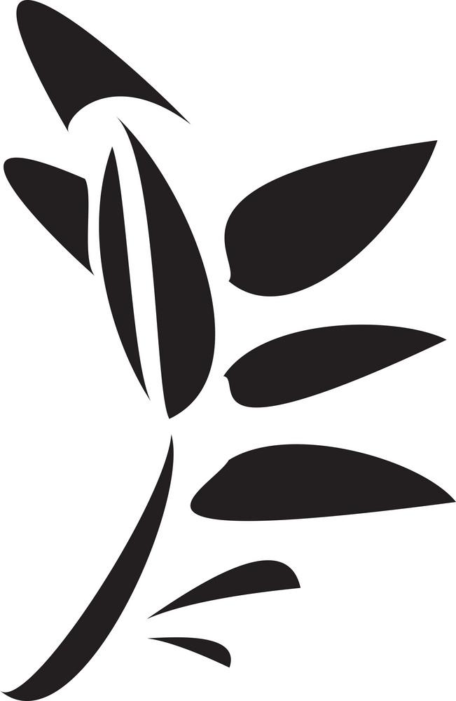 Illustration Of A Stalk With Leaf.