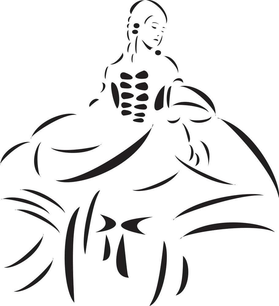 Illustration Of Milady Girl.