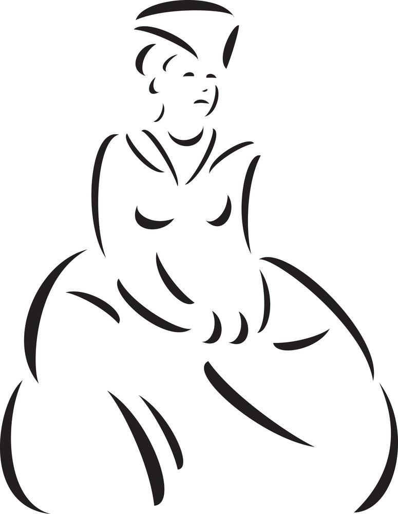 Illustration Of Milady Woman.