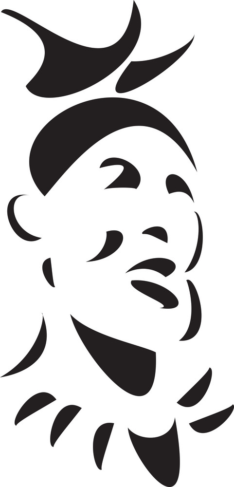 Black And White Illustration Of A Zulu Man.