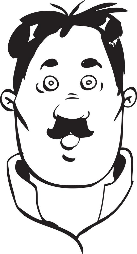 Portrait Of A Cartoon Face.