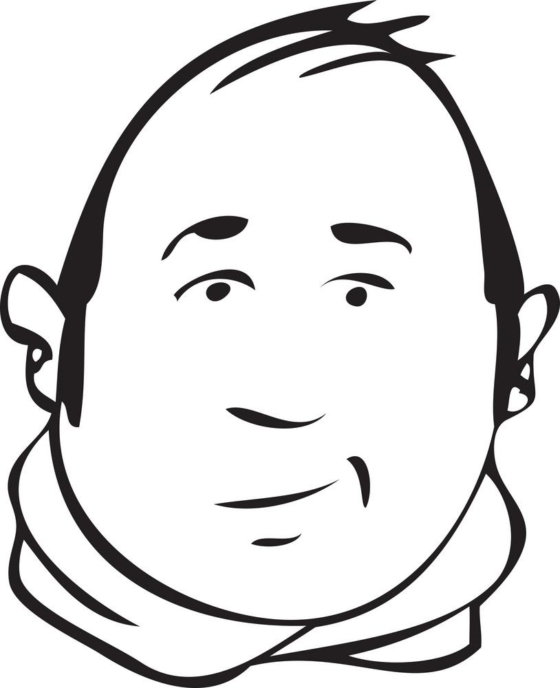 Portrait Of A  Smiling Cartoon.
