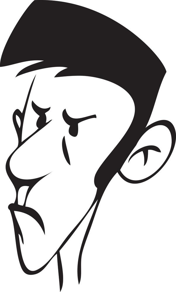 Portrait Of A Cartoon Boy.