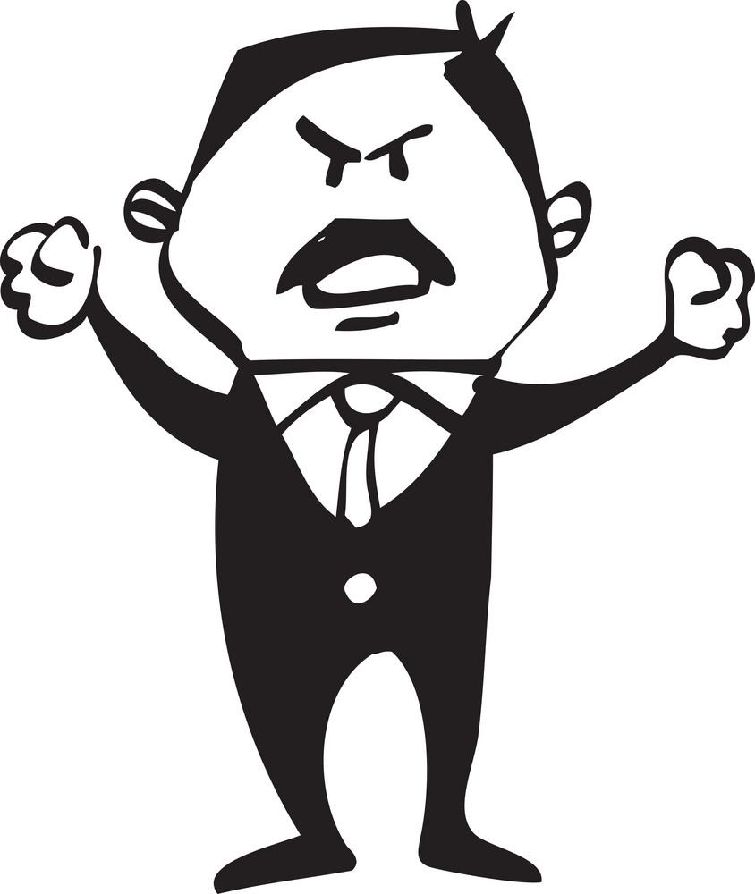 Portrait Of A Cartoon Man.