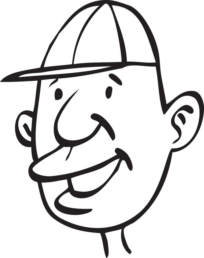 Portrait Of A Happy Cartoon.