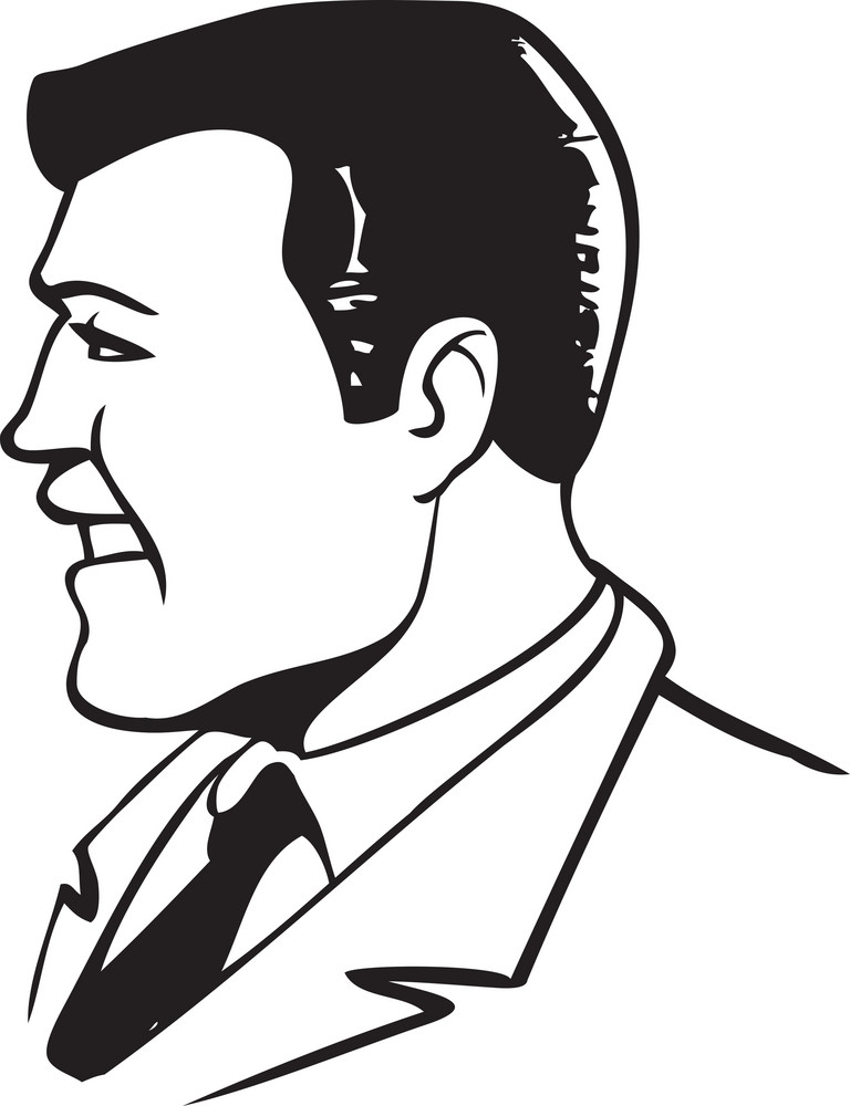 Illustration Of A Business Man.