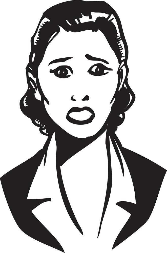 Illustration Of A Retro Lady.
