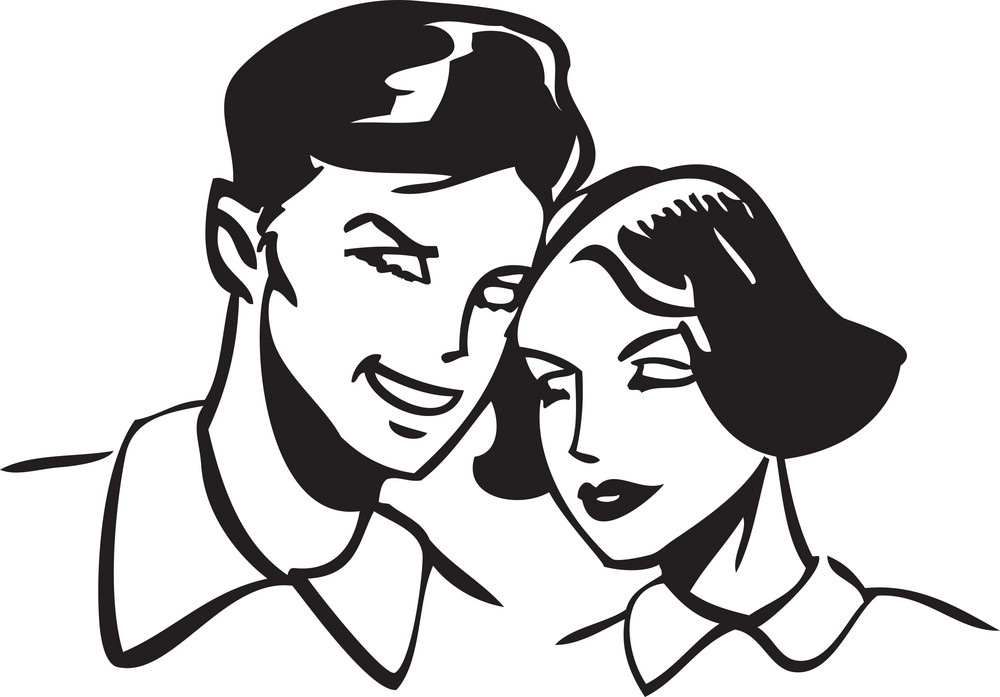 Illustration Of A Couple.