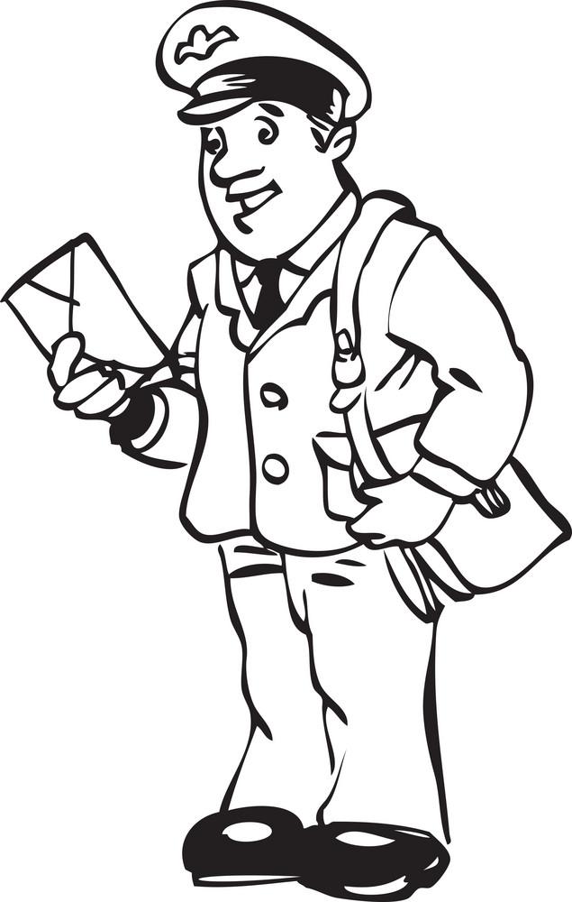Illustration Of A Postman.