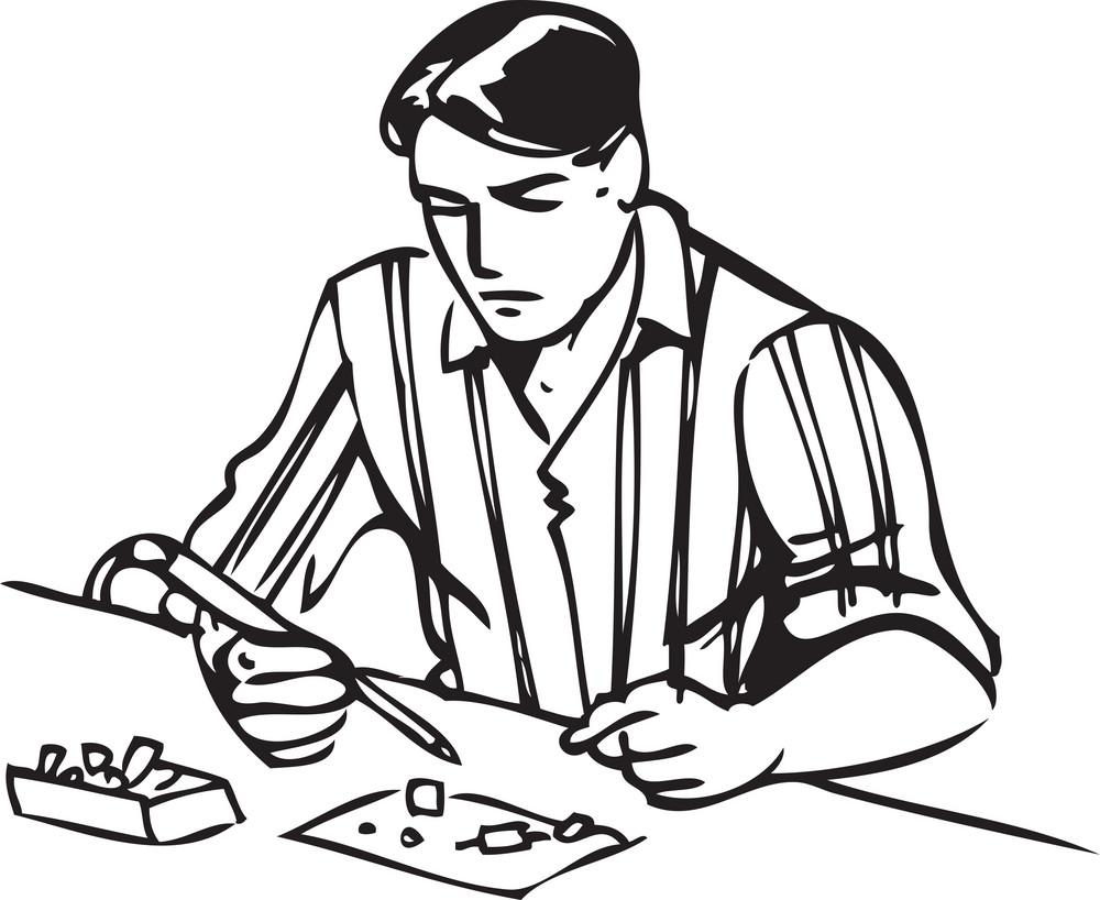 Illustration Of A Mechanic.
