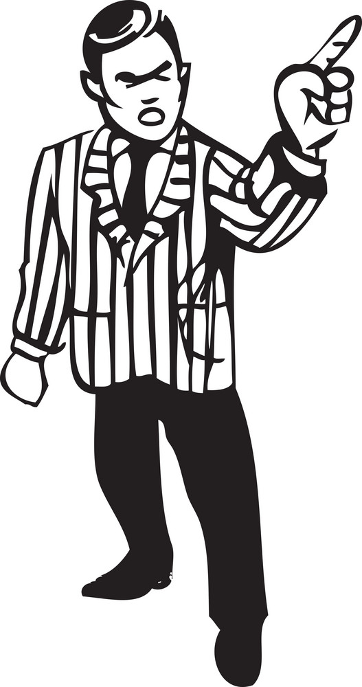 Illustration Of A Man Pointing His Finger.