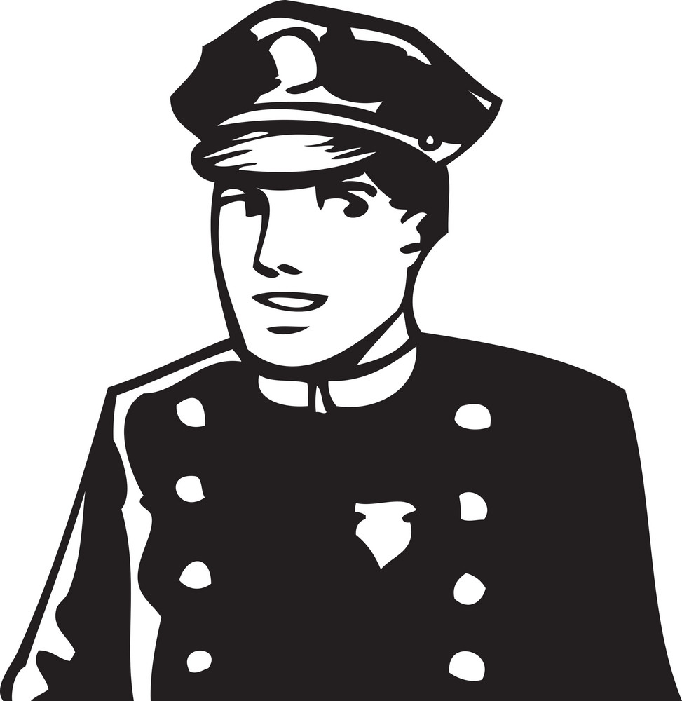 Illustration Of A Traffic Police Officer.