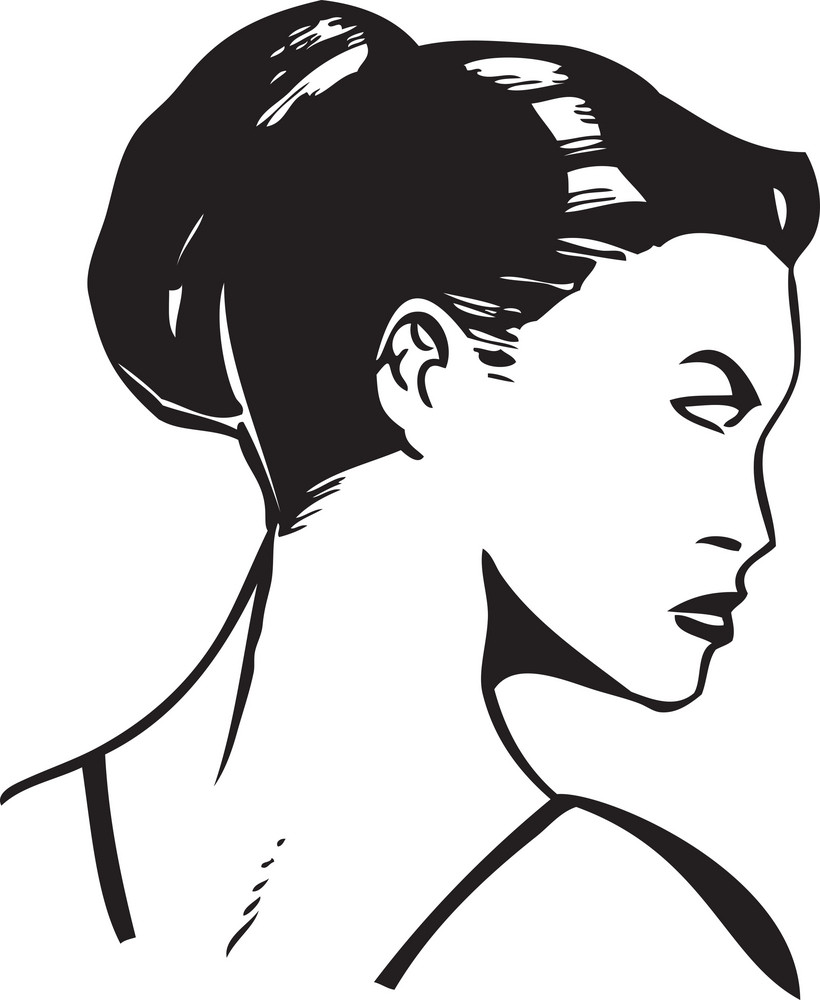 Illustration Of A Retro Lady.