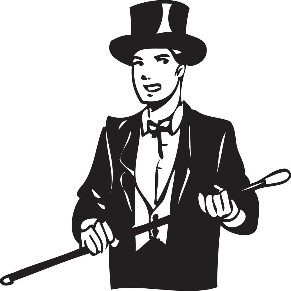 Illustration Of A Magician.