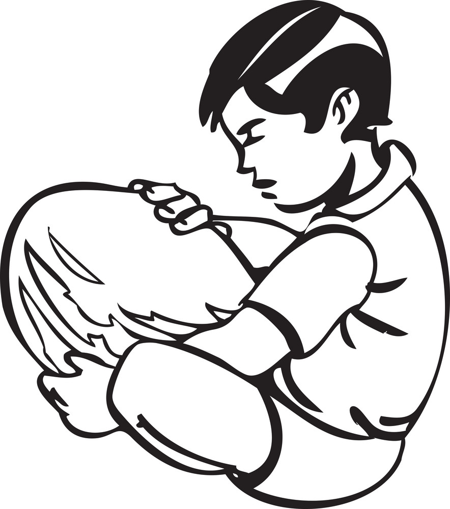 Illustration Of A Boy.