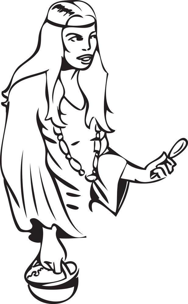 Illustration Of A Girl.