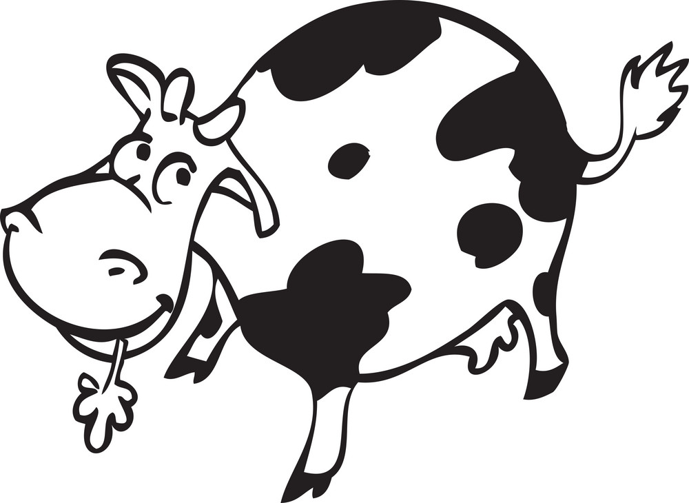 Illustration Of A Cow.