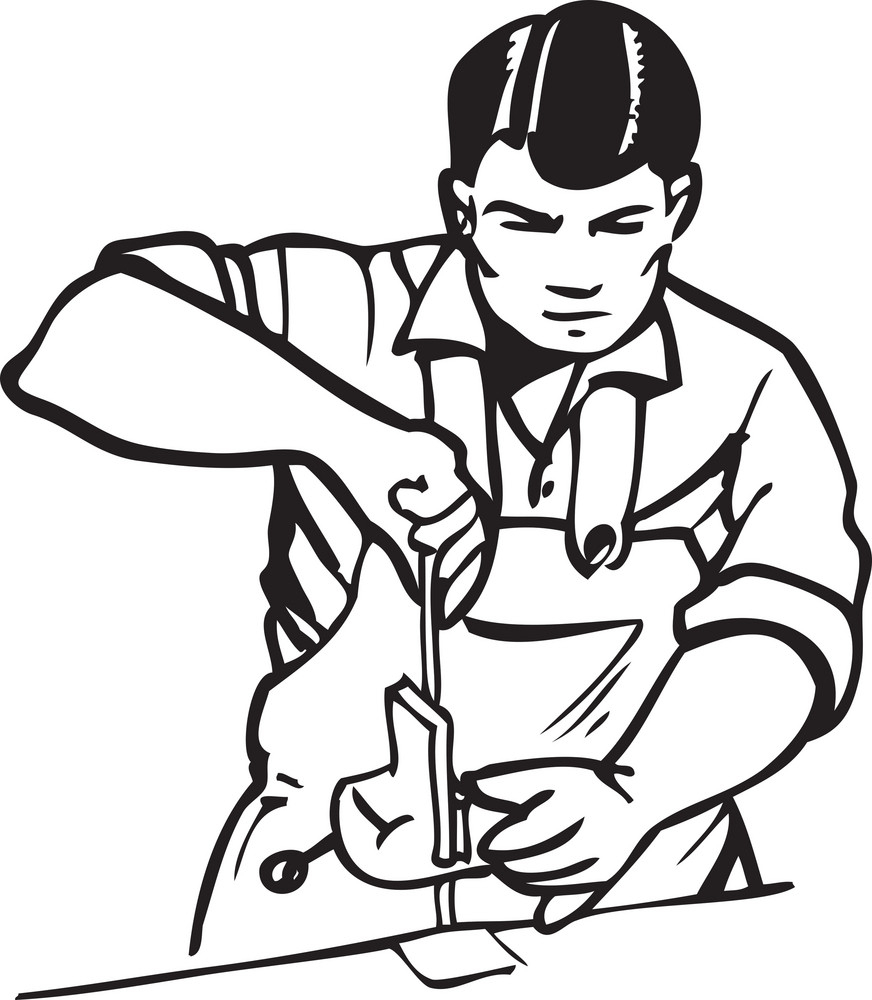Illustration Of A Worker.