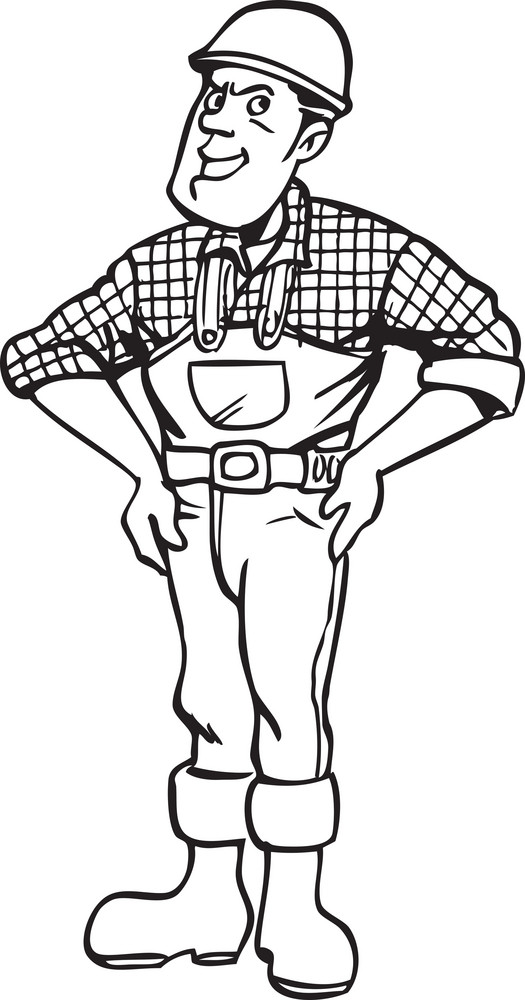 Illustration Of A Worker.