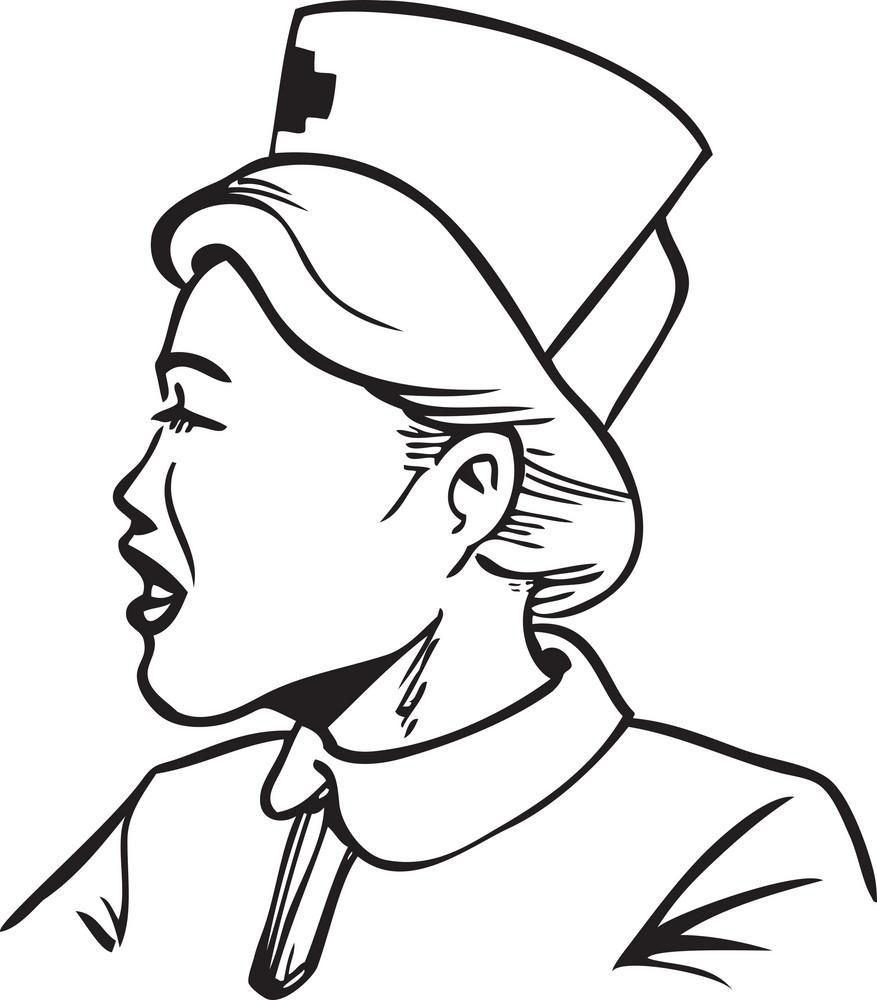 Illustration Of A Nurse.
