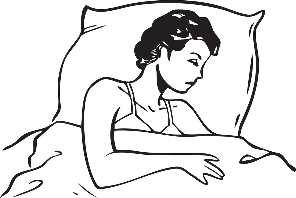 Illustration Of A Sleeping Lady.