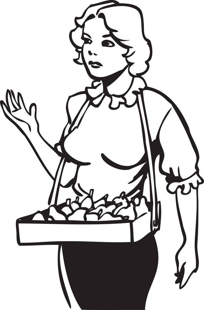 Illustration Of A Fountain Hawker.