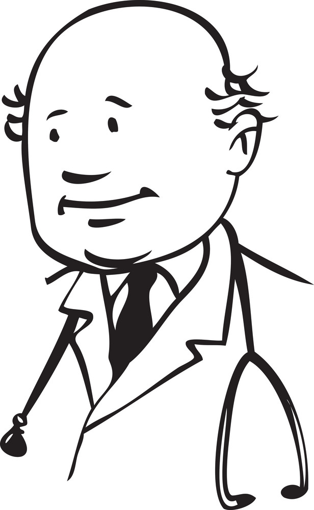 Illustration Of A Doctor.