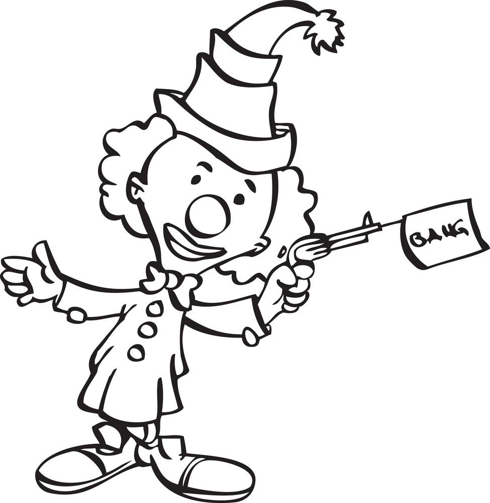 Illustration Of A Clown.