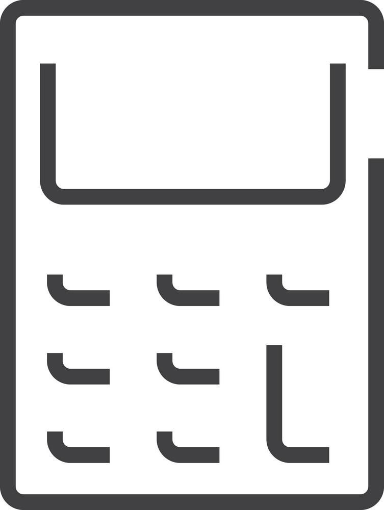 Calculater Minimal Icon