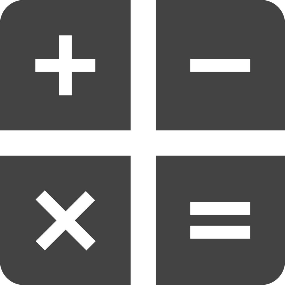 Calculator 1 Glyph Icon
