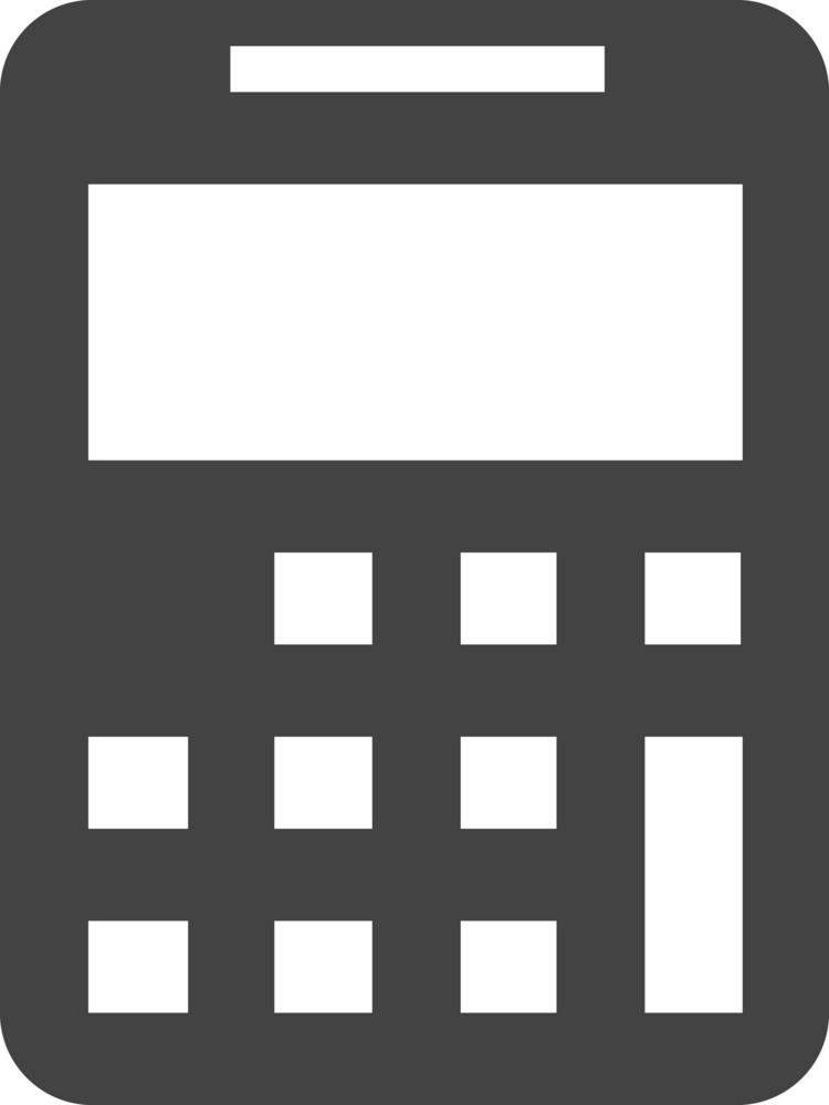 Calculator 2 Glyph Icon