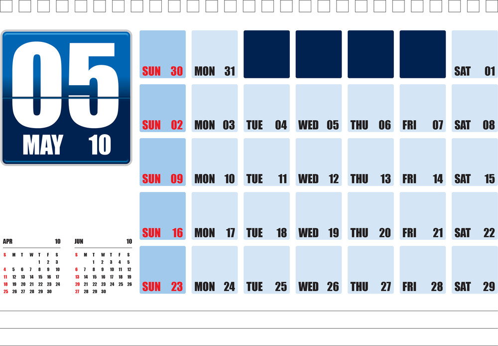 Calendar 2010_table Top_05may