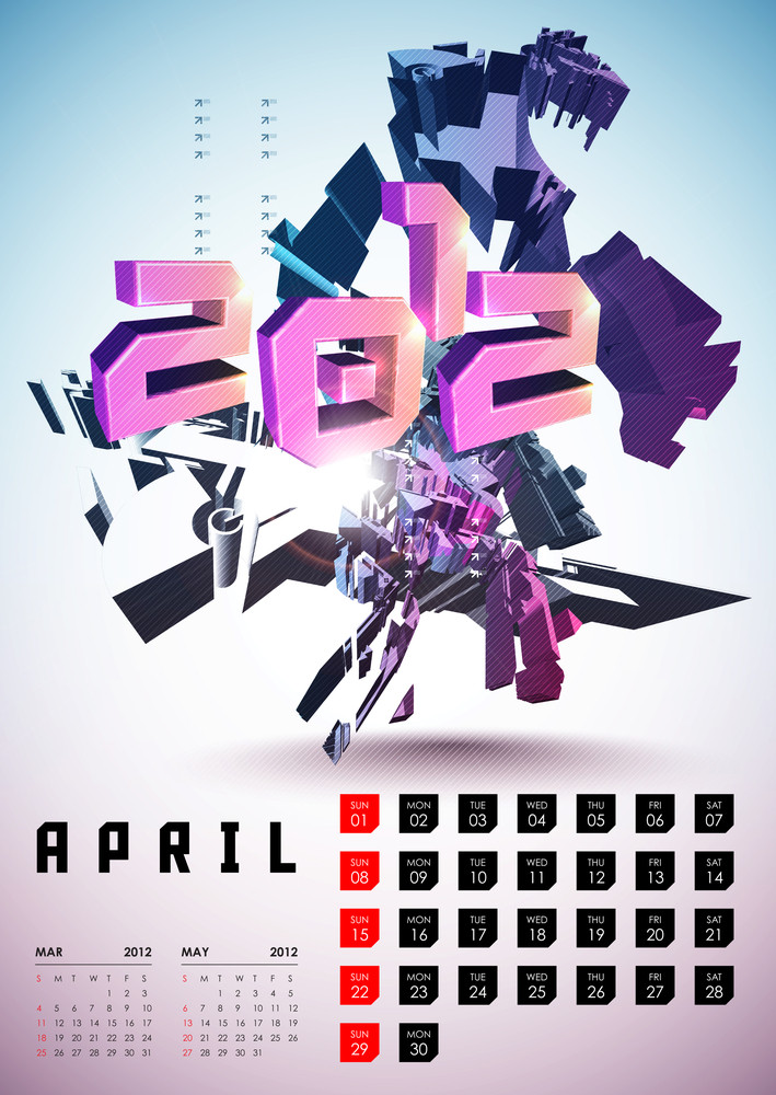 Calendar Design 2012 - April