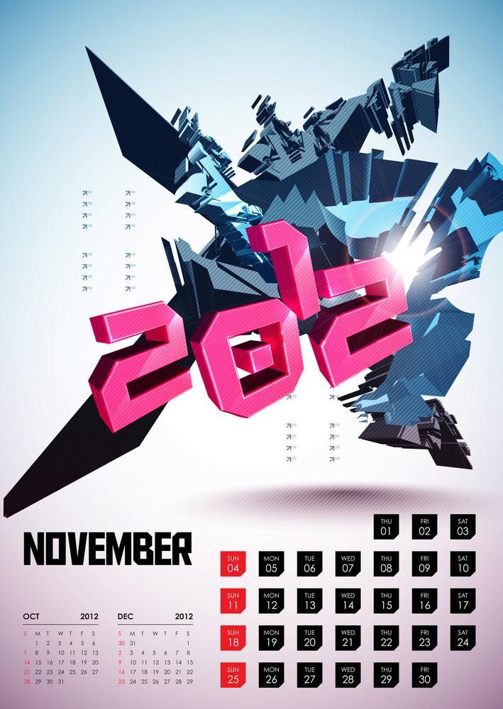 Calendar Design 2012 - November