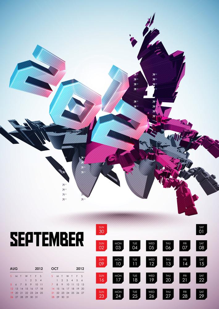 Calendar Design 2012 - September