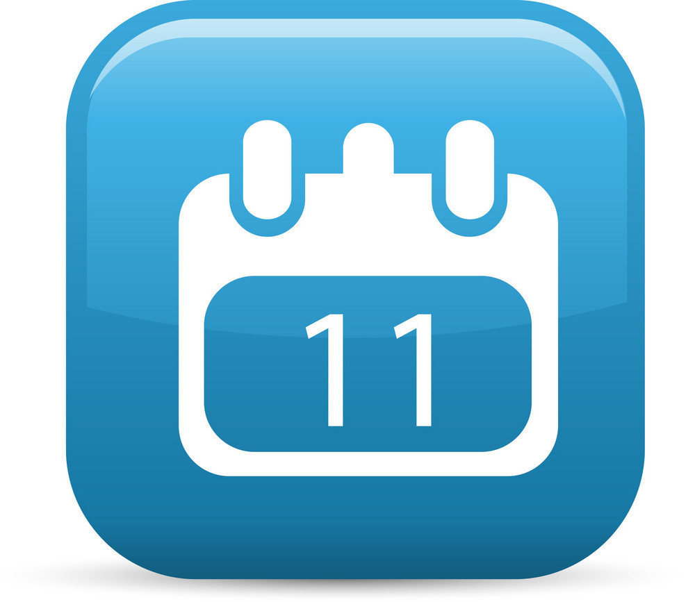 Calendar Elements Glossy Icon