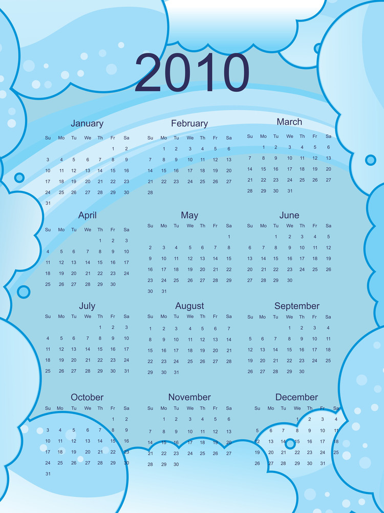 Calender For 2010