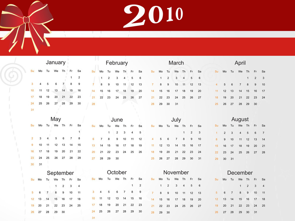 Calender For New Year
