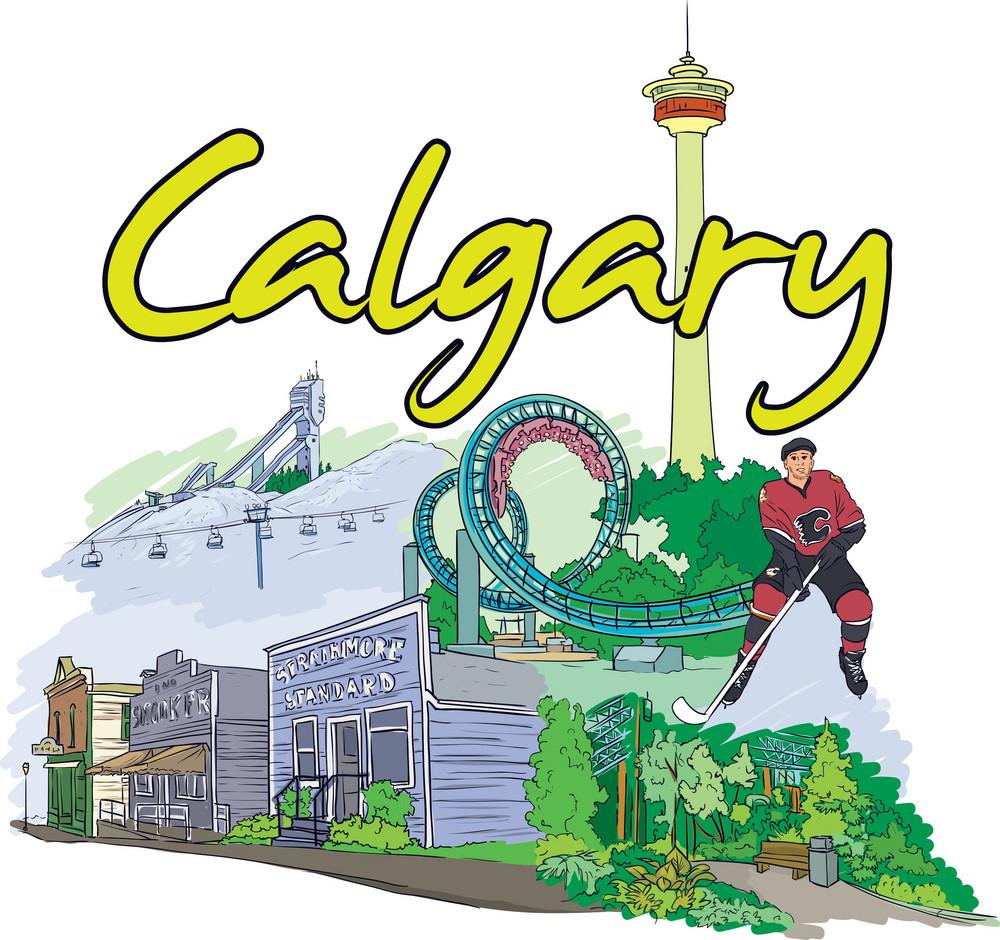 Calgary Vector Doodle