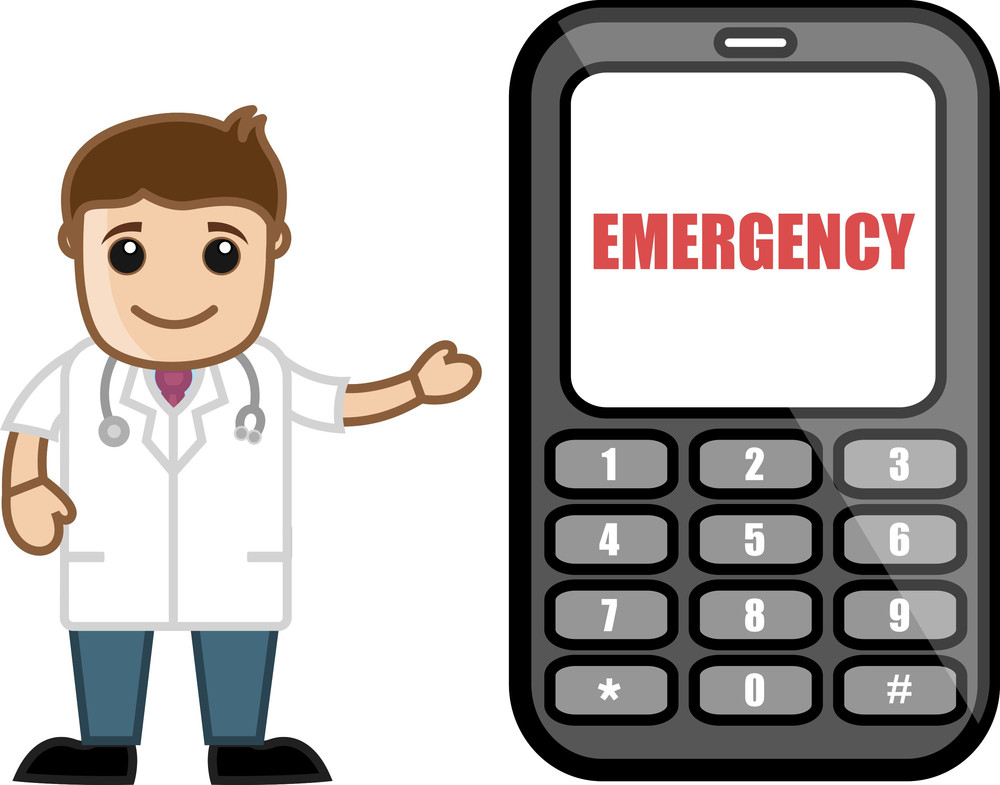 Call On Emergency - Doctor & Medical Character Concept