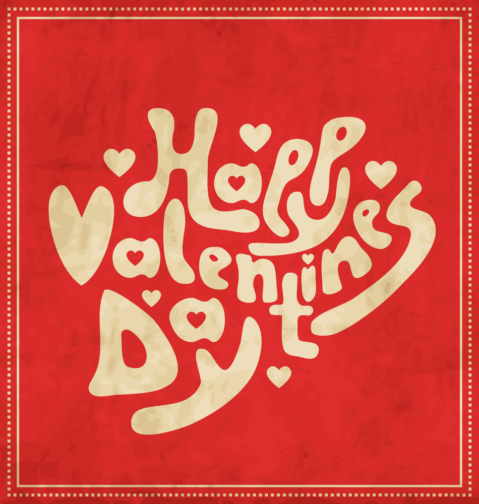 Calligraphic Valentines Design Template - Handdrawn Letters